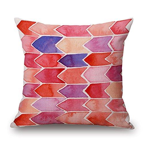 mnsnagdsdd Baumwolle Leinen einfach pink Serie Muster Quadratisch dekorativer Überwurf-Kissenbezug Fall Single und Set P3 -
