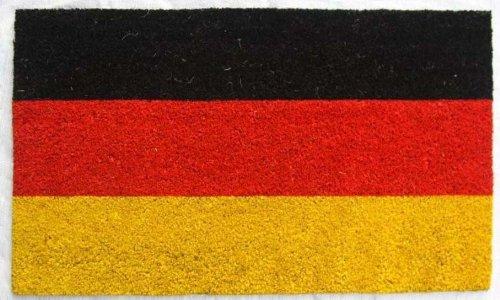 Palmeras Kokos Fußmatte Flagge Deutschland, 45x75cm