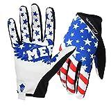 Rigwari Fahrräder Mountainbikes Motocross Amerikanische Flagge Muster Design Handschuhe Bergsteigen - Wandern und andere Outdoor-Sportarten verwenden Unisex (Weiß, M)