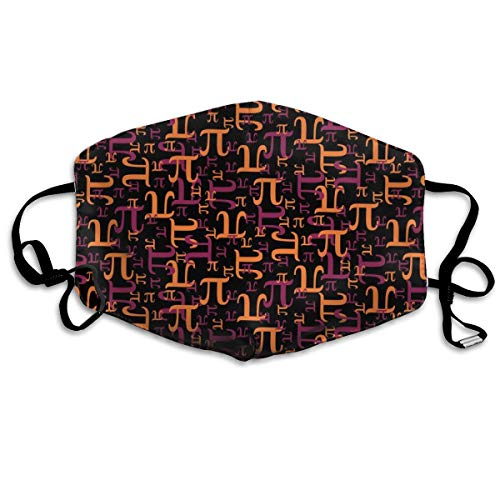 Pieces Of Pi (Maroon And Orange) Anti Dust Mask Anti Pollution Washable Reusable Mouth Masks