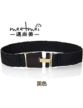 SILIU*La tensión de la correa de la cintura elástica y elegante decoración vestidos femeninos fajas cinturones...