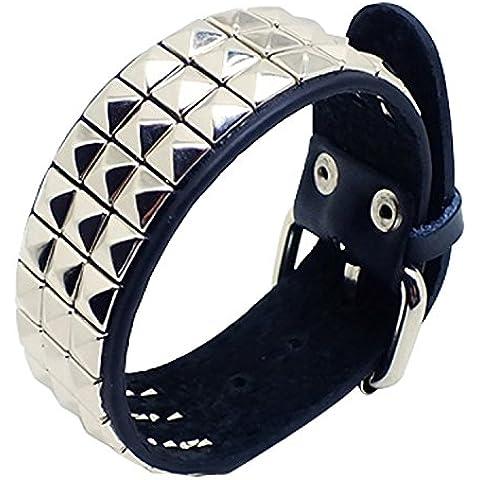 Dansuet Pelle disegno punk Moda Rivet borchie braccialetto dell'involucro Wristband, Leather Wrap Bracelet Wristband per le donne