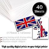 40fogli di carta fotografica A4180gsm–molto lucido bianco e carta fotografica impermeabile, compatibile con stampanti a getto d' inchiostro e foto