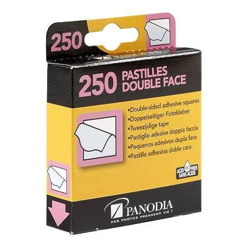 Panodia 270890 Boîte de 250 Pastilles Adhésives Double Face