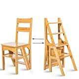 Stufenhocker Aus Massivem Holz Klappstuhl Für Kinder Multifunktion Vier-Stufen-Leiter Ascend (Farbe : Holzfarbe)