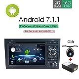 Android 7.1Doppel Din Auto Stereo für Audi A4(2003–2011) CD DVD Player Autoradio GPS Bluetooth 1024* 600Head Unit Unterstützung Spiegel Link DAB + Subwoofer WLAN AV Out SWC Aux Canbus & Kamera