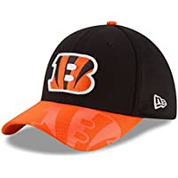 A NEW ERA Era NFL Sideline 39Thirty Cinben OTC Gorra Línea Cincinnati Bengals de Tenis, Hombre, Negro (Black), M-L