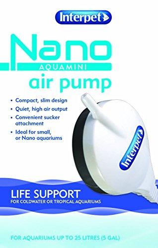 Interpet Aquamini Silent Air Pump, Sucker Attachment, Slim, Powerful Oxygen for Small Nano Aquarium Fish Tanks up to 25… 4