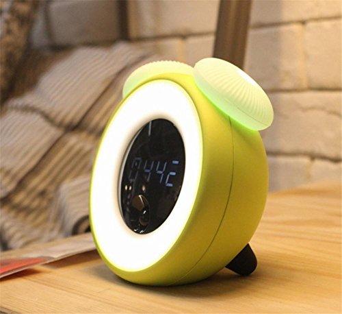 Wecker LED-Lichtsteuerung Nachtlicht Smart Sensor Alarm Schlummeralarm Nachtlicht Zeit Licht Sensor Pilz Licht , 2