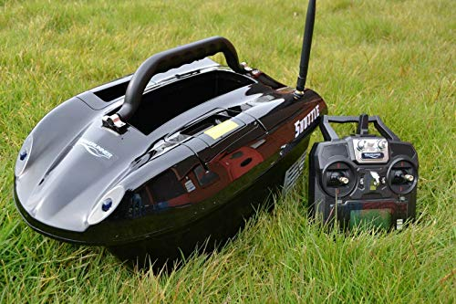 Waverunner Shuttle Bait Boat Latest 2019 Version on 5.8ghz + Spare Batteries & Solar Panel