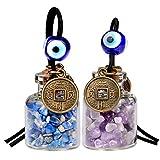 Lucky Münzen magic Kleine Auto Charms oder Home Decor Gem Flaschen Amethyst und Lapis Lazuli Schutz Amulett