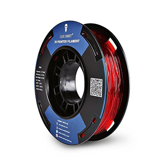 Bobina pequeña de SainSmart, 1,75mm, de poliuretano termoplástico, flexible, filamentos en 3D, 250g, precisión de las medidas: +/-0,05mm, Shore 95A, roja