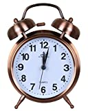 #1: Efinito Gifts Twin Bell Table Alarm Clock With Night Led Display - 5 Inches