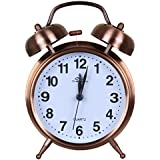 Efinito Gifts Twin Bell Table Alarm Clock With Night Led Display - 5 Inches