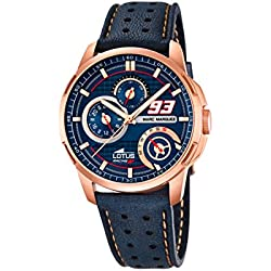 Lotus Marc Marquez Collection 2015 Men's Quartz Watch with Blue Dial Analogue Display and Blue Leather Strap 18242/1