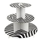 "Black : Homeford FPF0350053BK Zebra Cupcake Cardboard Stand, 3-Tier, 10"" , Black"