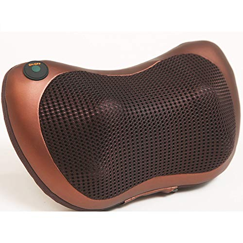 Shiatsu Pillow Massager with Heat for Upper and Lower Back, Shoulder, Neck, and Muscle Pain Relief,Metallic