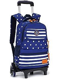 Trolley Bag Cadeaux Rentrée Scolaire Sac à Dos avec roulettes 2 en 1 Cartable Roulette Fille Bagages Cabine Loisir Voyage Enfant Primaire Maternelle 29 * 18 * 44cm