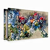 Leinwand American Football 120x80cm, Special-Edition - 3