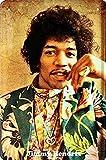BlechschilderWelt Targa in Metallo Musica Chitarrista Musicista Jimmy Hendrix Targa in Metallo Decorazione da Parete Tin Sign