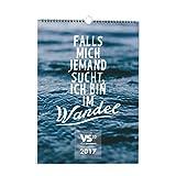 VISUAL STATEMENTS® Wandkalender 2017 WANDEL mit Sprüchen und Bildern