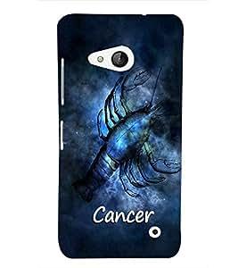 PrintVisa Zodiac Cancer 3D Hard Polycarbonate Designer Back Case Cover for Nokia Lumia 550