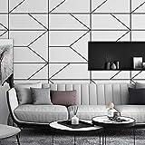 ZHAORLL Einfache Mode schwarz-weiß Linie tapete Schlafzimmer Wohnzimmer bekleidungsgeschäft Nordic ins Stil vlies net rote tapete 0,53 mt * 10 mt