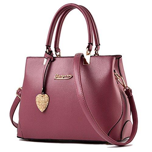 fanhappygo Fashion Damen Retro Leder einfach Tote Abendtaschen Schulterbeutel Umhängetaschen pink