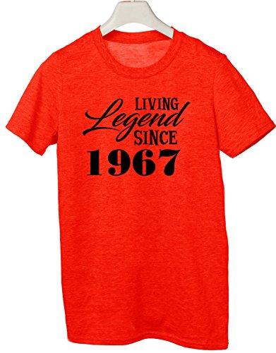Tshirt living legend since 1967 - idea regolo compleanno - happy birthday - Tutte le taglie by tshirteria Rosso