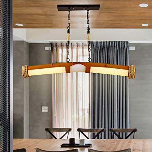 12 W LED Retrograve Stil Kronleuchter Hanfschnur mit Bambus Teppichen Vintage rustikalen Stil Suspension für Restaurant Bar Cafe industrielle Innenarchitektur ausgesetzt Loft Lampe