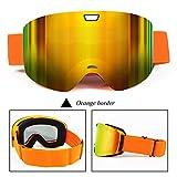 LYLhmj Skibrille, Outdoor-Sport Snowboard-Schutzbrillen mit Anti-Nebel UV-Schutz Austauschbare...