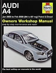 Audi A4 Petrol and Diesel Service and Repair Manual: 2005 to 2008 (Haynes Service and Repair Manuals) by Martynn Randall (2010-10-15)