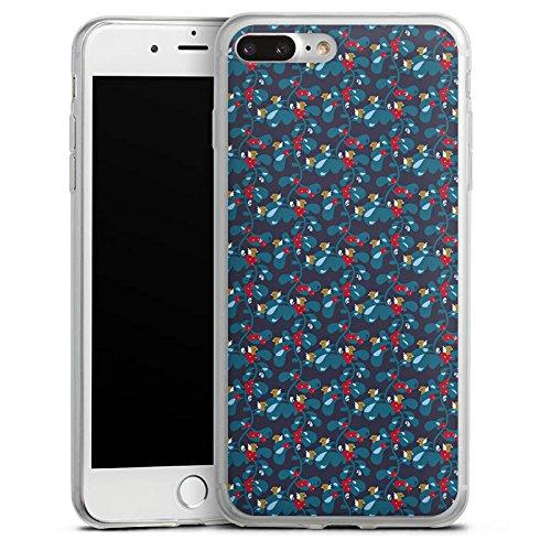 Apple iPhone 8 Slim Case Silikon Hülle Schutzhülle Vögel Blau Vogel Silikon Slim Case transparent