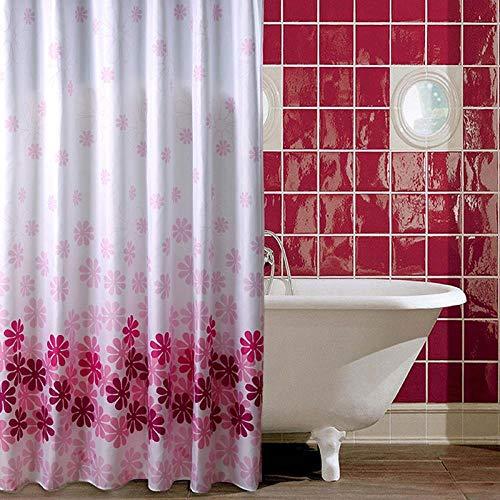 jihaoqwer Bad - Vorhang warmes Bad - Vorhang Dicken Vorhang wasserdicht Schimmel Badezimmer hängen gardinen duschvorhang, Breite 300* Hohe 200 / Kunststoff - Ring