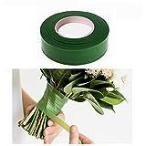 BulzEU Rubans de Fleuriste pour Art Floral, 2 Rouleaux 30M Long Verts Rubans Adhésifs Professionnel pour Corsages, Bouquets, Fleurs, Arrangements et Artisanat