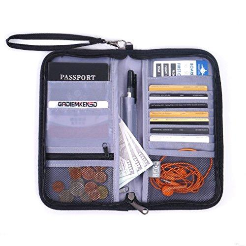 GADIEMKENSD Travel Wallet Passport Holder with RFID Blocking Offer Family Organizer for Credit & Business...