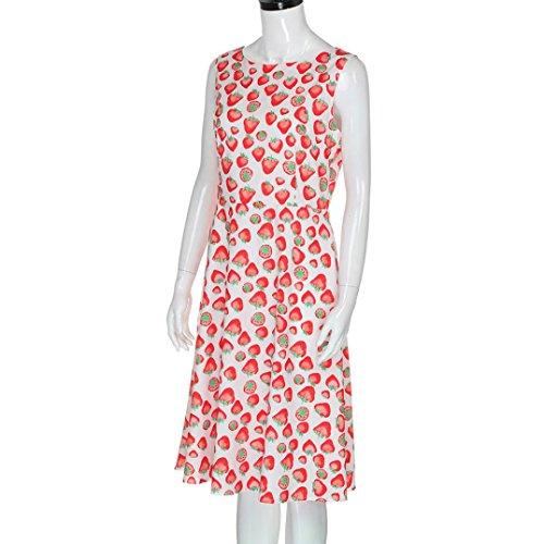 Robe vintage de Soirée Cocktail, Koly 2017 Simple Rétro robe femme Sans manches de fête E