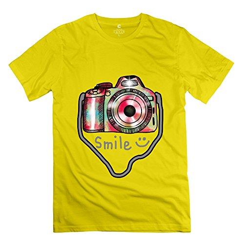 Los hombres de la cámara fotografía camiseta única Geek camisetas