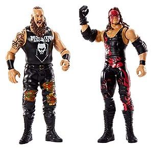 Mattel WWE-Pack de 2 Figuras de acción Luchadores Braun Strowman vs Kane, Multicolor GBN56