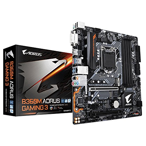 Gigabyte B360MAORUS Gaming 3 - Placa Base (Intel B360, S 1151, DDR4, SATA3, Dual M.2, 2-Way Crossfire), Color Negro