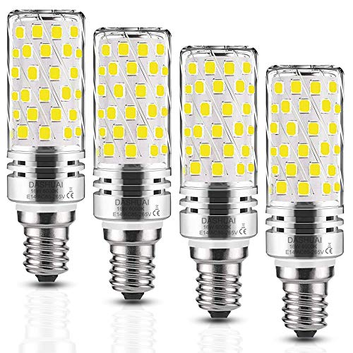 E14 LED Mais Glühbirnen 16W Kaltweiß Kerzen lampen 6000K Kandelaber Leuchtmittel 1600LM Entspricht 120W, LED Birne Maiskolben Kleine Edison Schraube Lampe (4-Pack) -