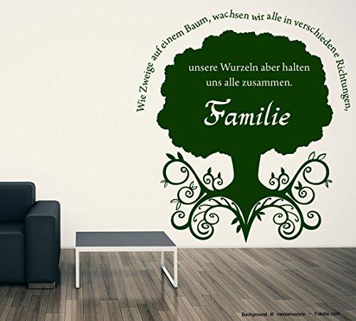Adesivo da parete famiglia albero, Vinile, Ortensia viola, 115,00 cm x 125,00 cm (Ortensia Albero)