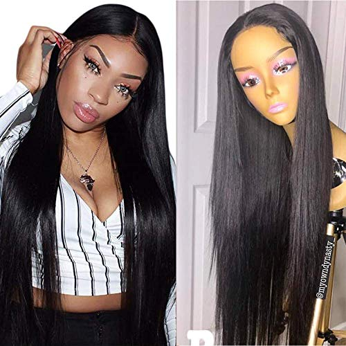 9A Human Hair Wigs for Black Women 180% Density Lace Front Wigs Brazilian Silky Straight Wave Front Lace Dace NACE Front Human Hair Wigs with Baby Hair,26INCH -