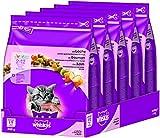 Whiskas Katzen-/Trockenfutter Junior für junge Katzen mit Lachs, 5 Beutel (5 x 800 g)