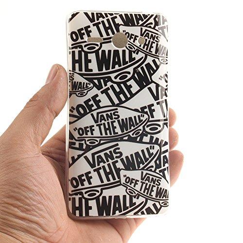 Huawei Ascend Y530 Hülle,MCHSHOP Ultra Slim Skin Gel Schlank TPU Case Schutzhülle Silikon Silicone Schutzhülle Case Back Cover für Huawei Ascend Y530 - 1 Kostenlose Stylus Pen (Vans von der wand) Vans von der wand