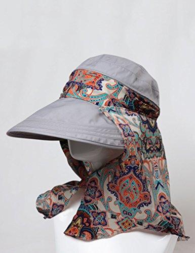 Été féminin chapeau Couverture extérieure Pliable Crème solaire Gros, avant-toit, plage, casquette ( couleur : 1 ) 5