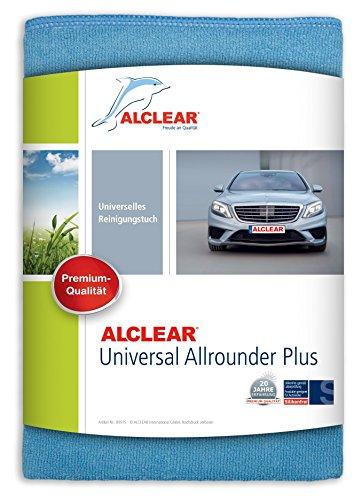 ALCLEAR 89915 Universal Allrounder plus, Microfasertuch geeignet für fast alle Oberflächen, Auto, Haushalt, Boot 40 x 40 cm, blau
