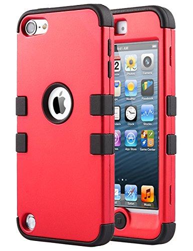 iPod Touch 6Fall, iPod Touch 5Fall, Ulak [Colorful Serie] Anti-Rutsch iPod Touch Fall Hard PC + weich Silikon Hybrid Staub Kratzer Stoßfestigkeit, für iPod Touch 56. Gen Muster (Schutzhülle Ipod Gen 4 Fall)