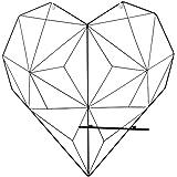 VICASKY Forma de Corazón Panel de Rejilla de Pared de Alambre de Hierro Paneles de Rejilla de Fotos Tablero de Notas Estante