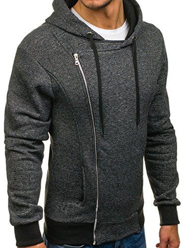 ... BOLF Herren Sweatjacke Kapuzenpullover Sweatshirt Pullover Hoodie Mix  1A1 Motiv Schwarz_A83 ...